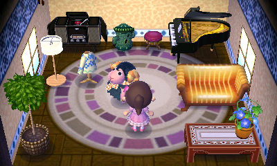 Interior of Eunice's house in Animal Crossing: New Leaf