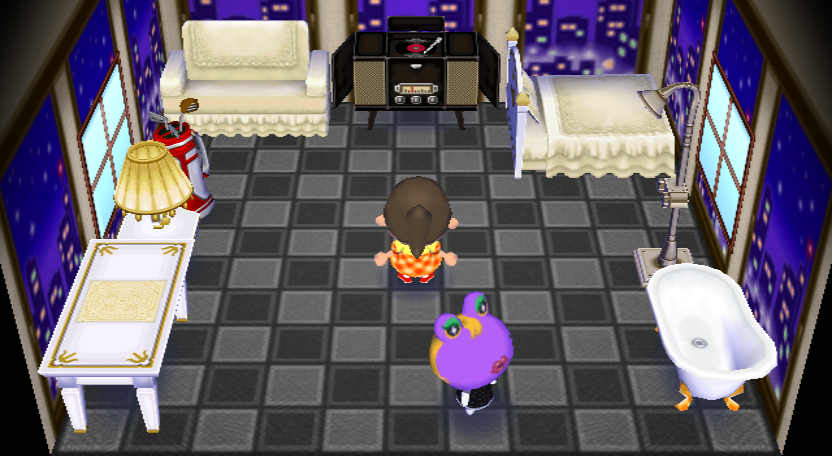 Interior of Gigi's house in Animal Crossing: City Folk