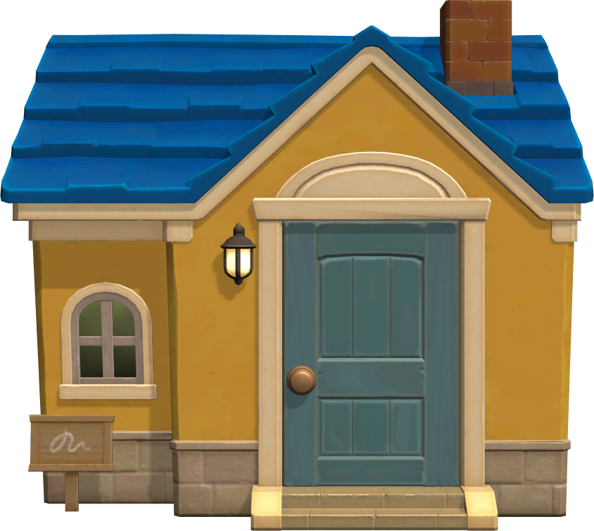 Exterior of Mitzi's house in Animal Crossing: New Horizons