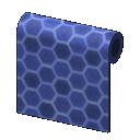 Blue Honeycomb-Tile Wall