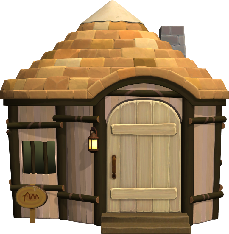 Exterior of Bonbon's house in Animal Crossing: New Horizons