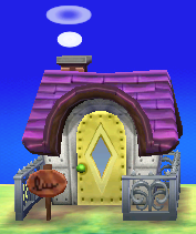 Exterior of Mathilda's house in Animal Crossing: New Leaf