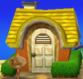 Exterior of Molly's house in Animal Crossing: New Leaf