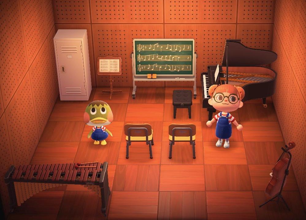Interior of Deena's house in Animal Crossing: New Horizons