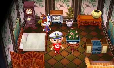 Interior of Purrl's house in Animal Crossing: New Leaf