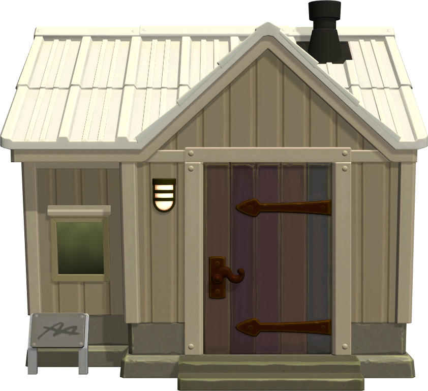 Exterior of Kyle's house in Animal Crossing: New Horizons