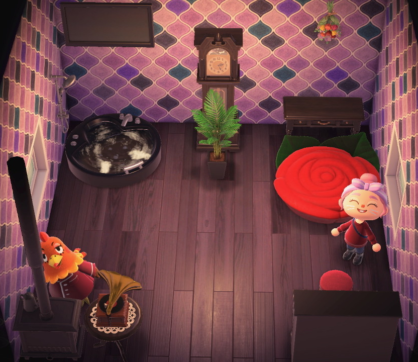 Interior of Broffina's house in Animal Crossing: New Horizons
