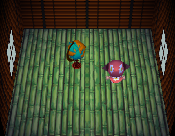 Interior of Pigleg's house in Animal Crossing