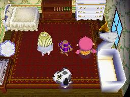 Interior of Portia's house in Animal Crossing: Wild World