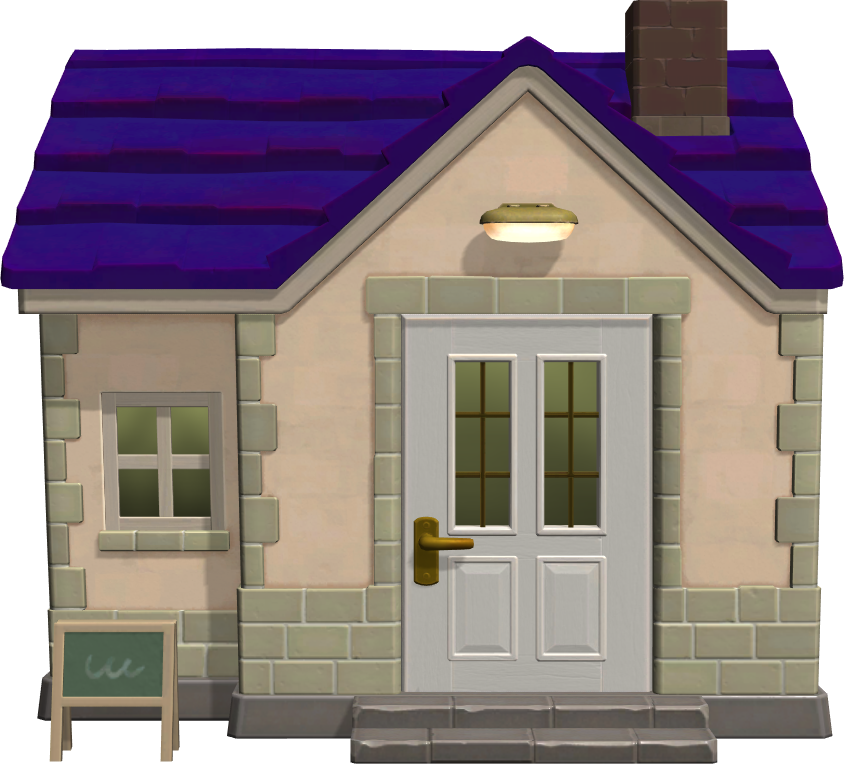Exterior of Olivia's house in Animal Crossing: New Horizons