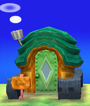 Exterior of Tybalt's house in Animal Crossing: New Leaf