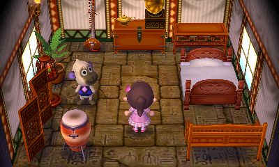 Interior of Deli's house in Animal Crossing: New Leaf