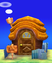 Exterior of Ricky's house in Animal Crossing: New Leaf