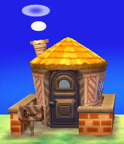 Exterior of Ankha's house in Animal Crossing: New Leaf