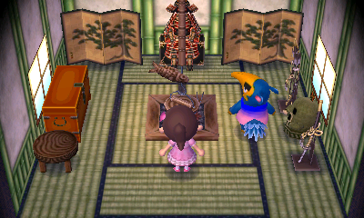 Interior of Cyrano's house in Animal Crossing: New Leaf