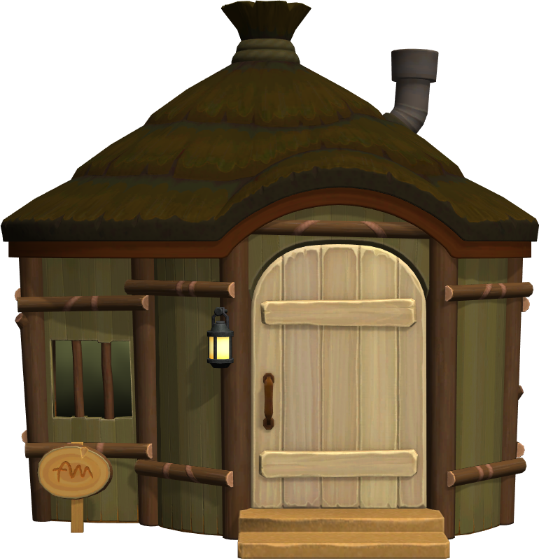 Exterior of Plucky's house in Animal Crossing: New Horizons