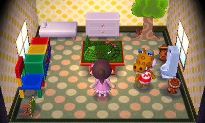 Interior of Alfonso's house in Animal Crossing: New Leaf