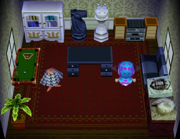 Interior of Apollo's house in Animal Crossing