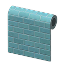 Blue Subway-Tile Wall