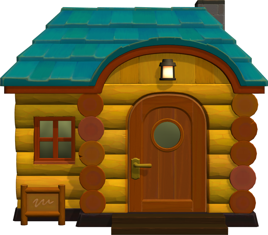 Exterior of Biskit's house in Animal Crossing: New Horizons