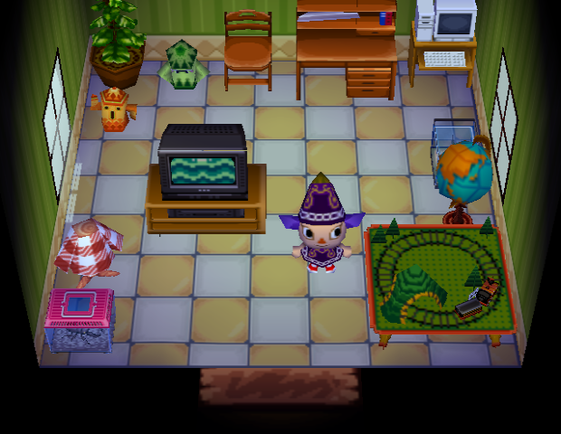 Interior of Boris's house in Animal Crossing