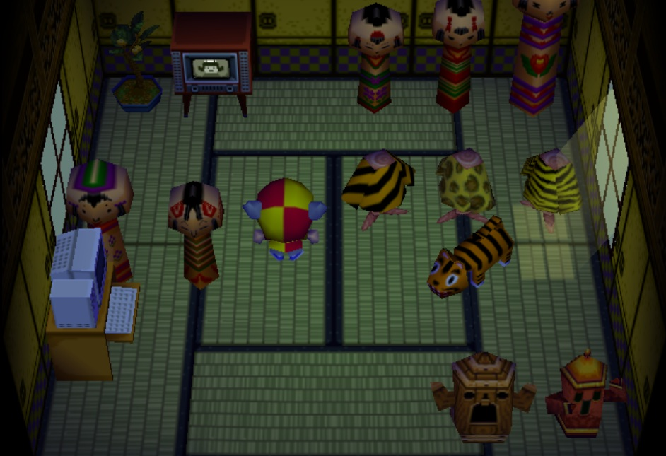 Interior of Tabby's house in Animal Crossing