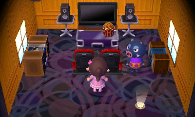 Interior of Boris's house in Animal Crossing: New Leaf
