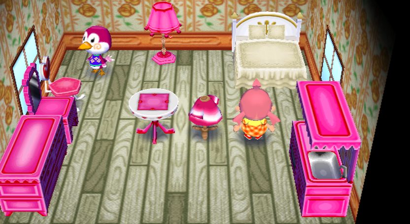 Interior of Midge's house in Animal Crossing: City Folk