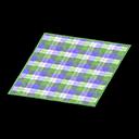 Green Checked Rug