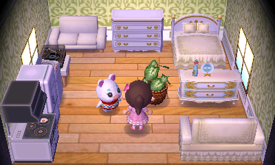 Interior of Flurry's house in Animal Crossing: New Leaf