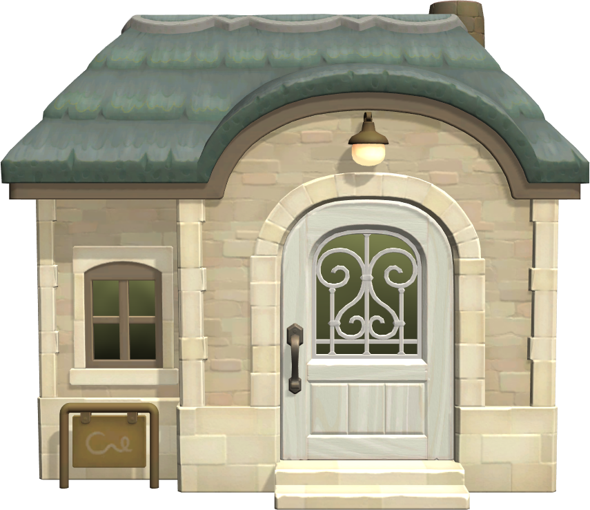 Exterior of Diana's house in Animal Crossing: New Horizons