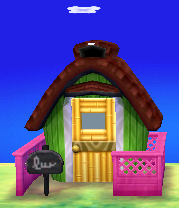 Exterior of Snooty (villager)'s house in Animal Crossing: New Leaf