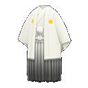 White Hakama with Crest