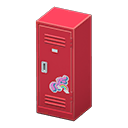 Upright Locker (Red - Cute) NH Icon.png