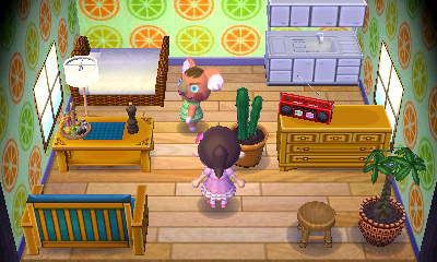 Interior of Canberra's house in Animal Crossing: New Leaf