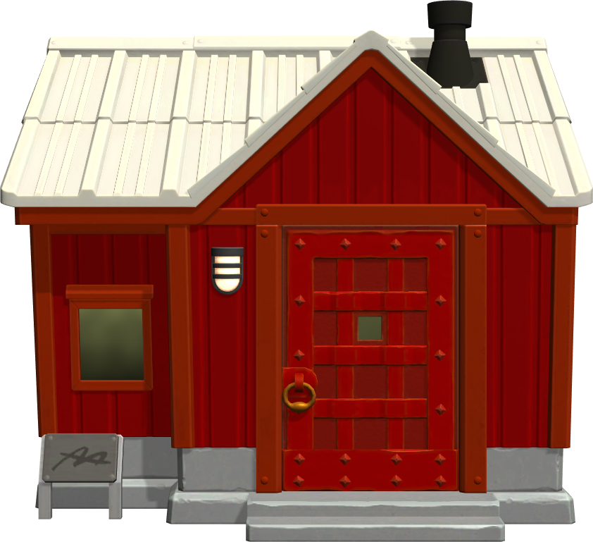 Exterior of Kid Cat's house in Animal Crossing: New Horizons