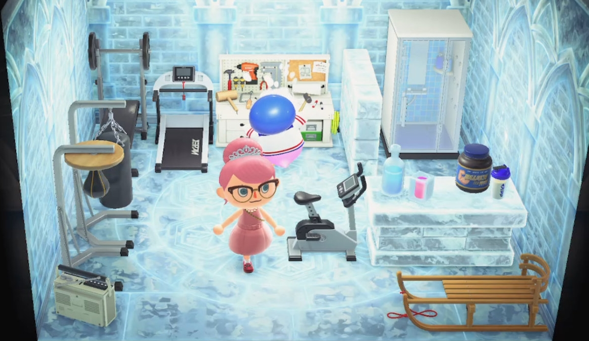 Interior of Puck's house in Animal Crossing: New Horizons