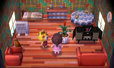 Interior of Tammy's house in Animal Crossing: New Leaf
