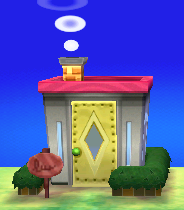 Exterior of Cleo's house in Animal Crossing: New Leaf