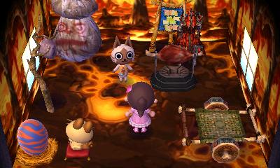 Interior of Felyne's house in Animal Crossing: New Leaf