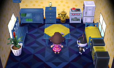 Interior of Punchy's house in Animal Crossing: New Leaf