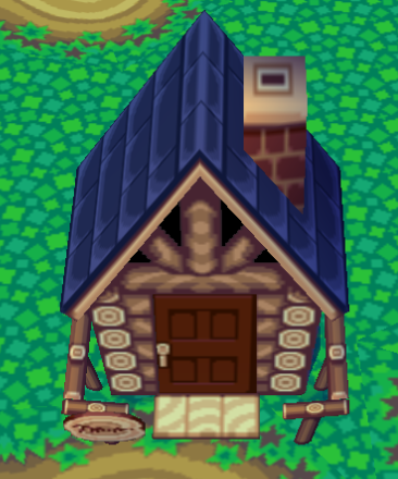 Exterior of Rocco's house in Animal Crossing