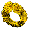 Gold Rose Wreath
