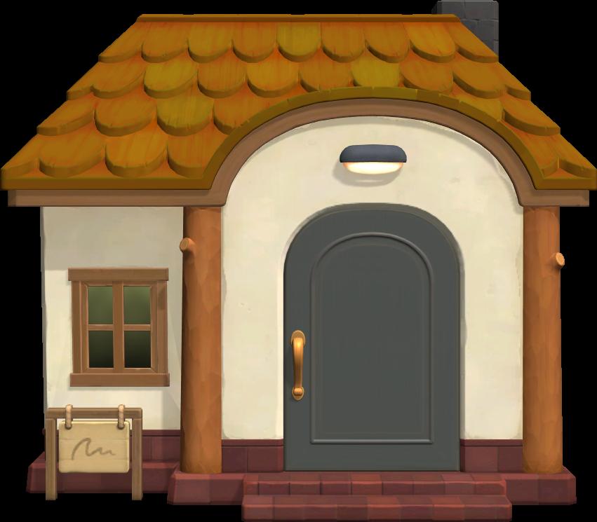 Exterior of Bones's house in Animal Crossing: New Horizons