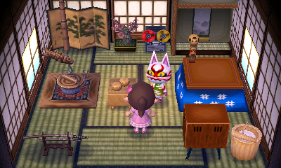 Interior of Kabuki's house in Animal Crossing: New Leaf