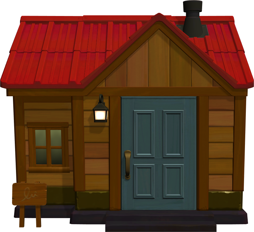 Exterior of Moose's house in Animal Crossing: New Horizons