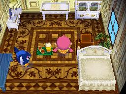 Interior of Yuka's house in Animal Crossing: Wild World