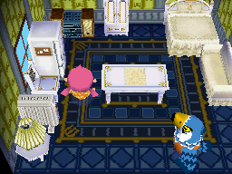 Interior of Pierce's house in Animal Crossing: Wild World