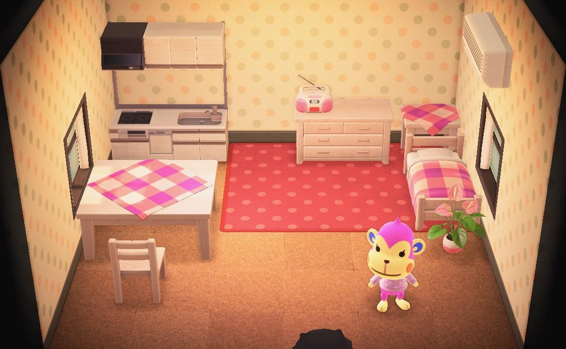 Interior of Nana's house in Animal Crossing: New Horizons