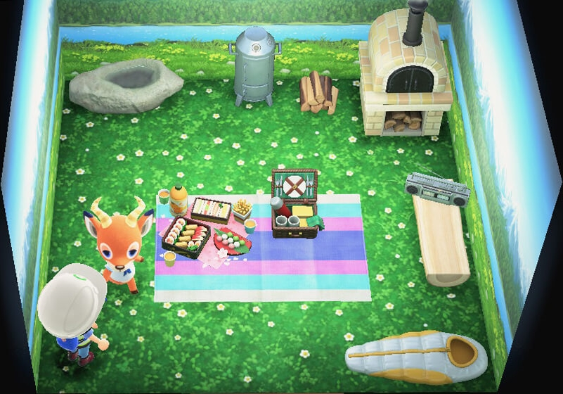 Interior of Beau's house in Animal Crossing: New Horizons